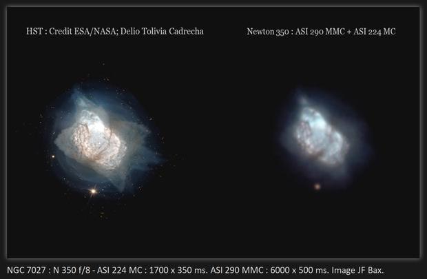 NGC 7027 - Small atypical planetary Nebula in Cygnus,                                Jeffbax Velocicaptor