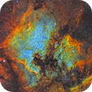 NGC 7000 & IC 5070 - The North America Nebula and Pelican Nebula in SHO with a RedCat 51 1x,                                CrestwoodSky