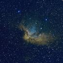 NGC 7380 Wizard Nebula - Hubble Palette SHO Composition,                                Matias Garcia