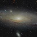 M 31 / NGC 224 / Andromeda Galaxy - four panel mosaic,                                Falk Schiel