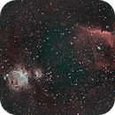 Orion, Horsehead, and Flame Nebulae @ 200mm in HOO,                                JDJ