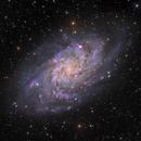 M33 HaLRGB from SRO, DSW & SRO,                                Rick Stevenson