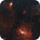 NGC 7635 Bubble Nebula and NGC 7538 Northern Lagoon Nebula,                                Murat SANA