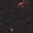 NGC 7635 - Bubble Nebula and NGC 7358 - Northern Lagoon Nebula,                                Sektor