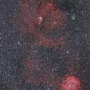 Rose and Cone Nebulas in Monoceros,                                Yuichi Kawamoto