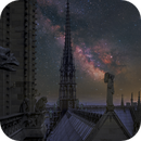 The Milky Way - Over the Cathedral of Notre-Dame,                                Jason Guenzel