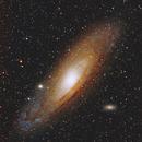 M31 Andromeda galaxy / Canon 600D + Canon 400mm L USM f/5.6 / SW EQM-35 / 800 ISO,                                patrick cartou