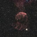 IC443 - nébuleuse de la méduse (HA-RVB),                                jpettit