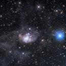 Topsy-turvy galaxy NGC 1313,                                Leonel Padron