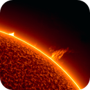 Sun with prominance and prototubes (Plasma and gas),                                Andreas Nilsson