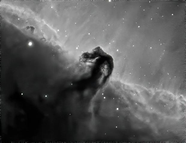 Horsehead Nebula in Ha (cropped),                                Mike