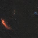 NGC 1499 & M45,                                Brice