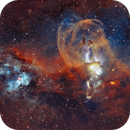 NGC 3576 (SHO version with RGB stars),                                Ben