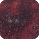 Double Cluster in Clouds of Hydrogen,                                Hytham
