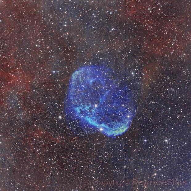 Crescent Nebula,                                Seymore Stars