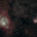 Lagoon (M8) and Trifid (M20) Nebulae,                                AstroCat_AU