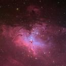 M16, The Eagle Nebula in HOO with RGB stars,                                Lee Morgan