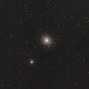 Kugelsternhaufen Messier (M) 5 im Kopf der Schlange (Serpens Caput) - Widefield,                                astrobrandy