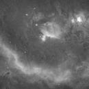 4 panel mosaic, Ha clouds around Orion,                                Robert Huerbsch