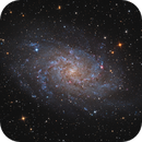 M33 the triangulum galaxy in LRVB,                                Vincent F