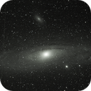 Experiment: M31 on a Goto Alt Az.  with dark frames calibration,                                Tej Dyal