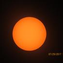 The Sun through my Camera using a  home made solar filter,                                Winton G