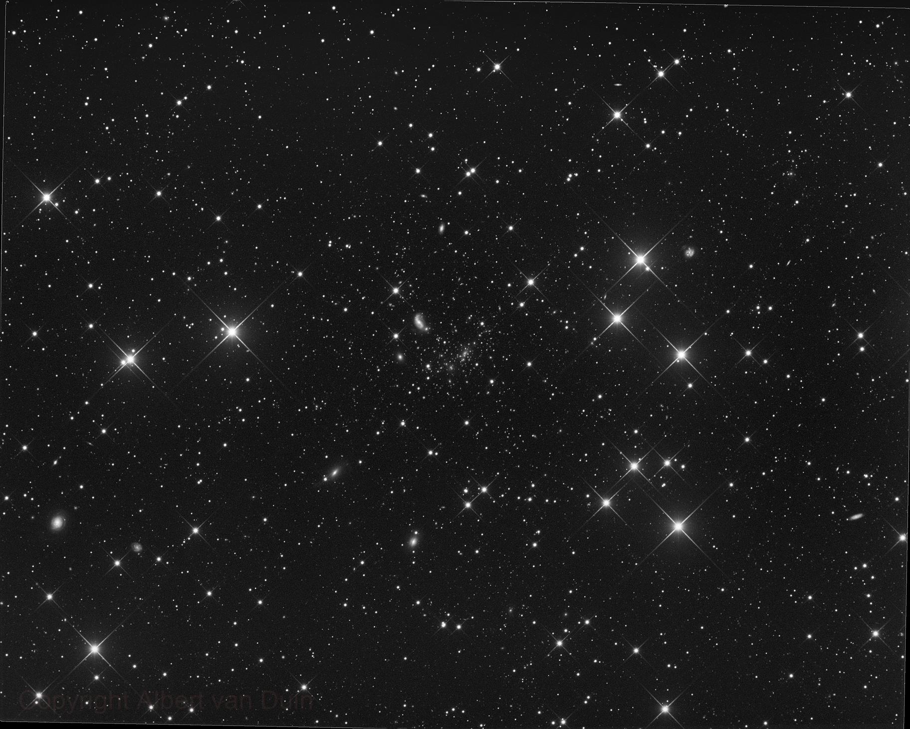 Abell 2218 Galaxy Cluster,                                Albert van Duin