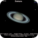 Saturn and moons Tethys, Dione, Enceladus,                                Stefano Quaresima