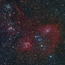 Flaming Star Nebula and M38,                                Scott M. Stirling