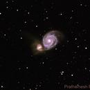 M51 - The Whirlpool Galaxy,                                Prath Pavaskar