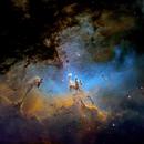 Eagle Nebula M16 Narrow Band,                                Glenn C Newell