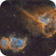 Heart and Soul Nebula (IC1805 and IC1848) SHO,                                Larry