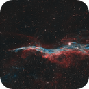 West Veil - Witch's Broom Nebula in HOO,                                Andreas Eleftheriou