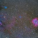 Rosette Nebula and Neighborhood 35x3mins A7Riii ISO3200,                                Zak Foreman
