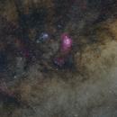 Plano galáctico en Sagitario,                                Máximo Bustamante