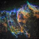 IC1340/NGC6995 (Veil Nebula) in narrowband,                                Rick Stevenson
