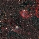 NGC 3324 and NGC 3293,                                Gerson Pinto
