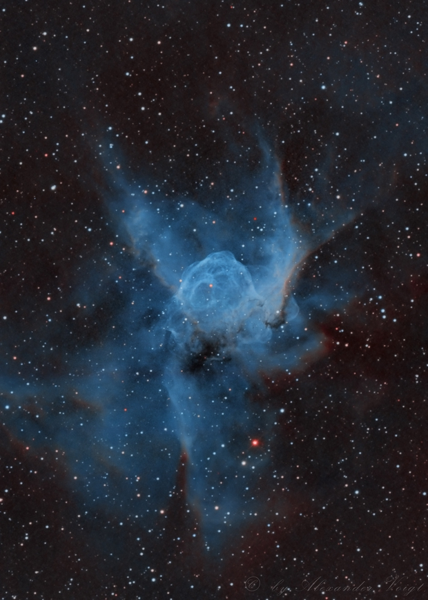NGC 2359 Thor's Helmet (Hubble and BiColor),                                Alexander Voigt