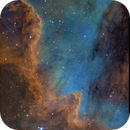 The great wall in NGC 7000 in hubble pallet,                                Christoph Lichtblau