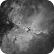 """M 16, Eagle Nebula with """"The Pillars of Creation"""",                                Steve Cooper"""