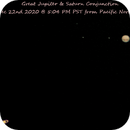 A Journey of Luck and Persistence: Jupiter & Saturn Conjunction Dec 2020 from Cloudy Pacific Northwest,                                astrobrad