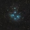M45 - Pleiades - DSLR 135mm,                                Euripides