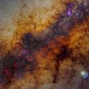 Milky way center with bright Jupiter near the pipe nebula,                                Ricardo L Pinto