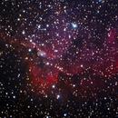 NGC7380 Wizard Nebula over The Badlands,                                SoDakAstronomyNut