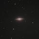 Sombrero Galaxy (M104)  Captured,                                Chuck's Astrophot...
