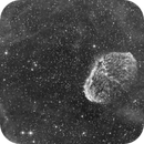 Crescent Nebula in HA, drizzled and cropped,                                pterodattilo
