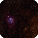 Wide view of Lagoon and Trifid Nebula,                                Shane Hunter