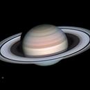 Saturn, Tethus, Mimas and Enceledus,                                Kevin Parker