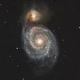 M51 in short exposures, T150 f/5  /  Altaïr GPCAM 290 mono  /  AZEQ6,                                Pulsar59