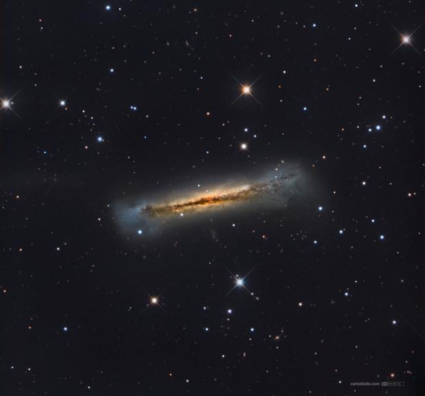Hamburger Galaxy (NGC3628) and other six galaxies,                                Jose Carballada